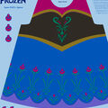Disney Frozen Anna Cotton Girl\u0027s Apron Panel Fabric