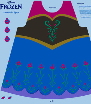913ce22eb Disney Frozen Anna Cotton Girl's Apron Panel Fabric