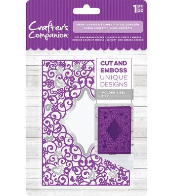 Crafter's Companion 4.25''x5'' Cut & Emboss Folder-Heart Confetti