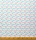 Doodles Juvenile Apparel Fabric -Multi Dot Interlock