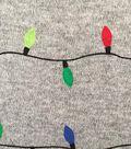Doodles Christmas Interlock Cotton Fabric -String Lights