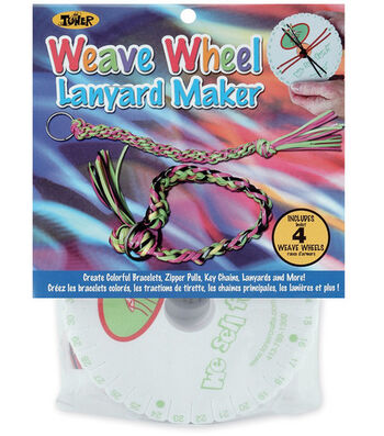 Weave Wheel Lanyard Maker-4PK