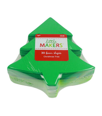 Little Makers Foam Shapes-Christmas Tree