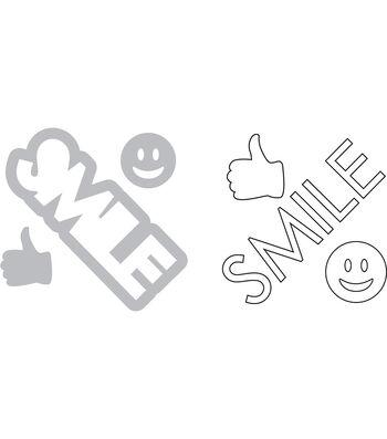 Sizzix Framelits Katelyn Lizardi Die & Stamp Set-Smile