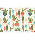 Novelty Cotton Fabric-Bird Cactus