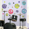 York Wallcoverings Wall Decals-Zebra Peace Signs