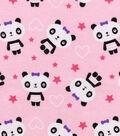 Snuggle Flannel Fabric 42\u0022-Pretty Pandas