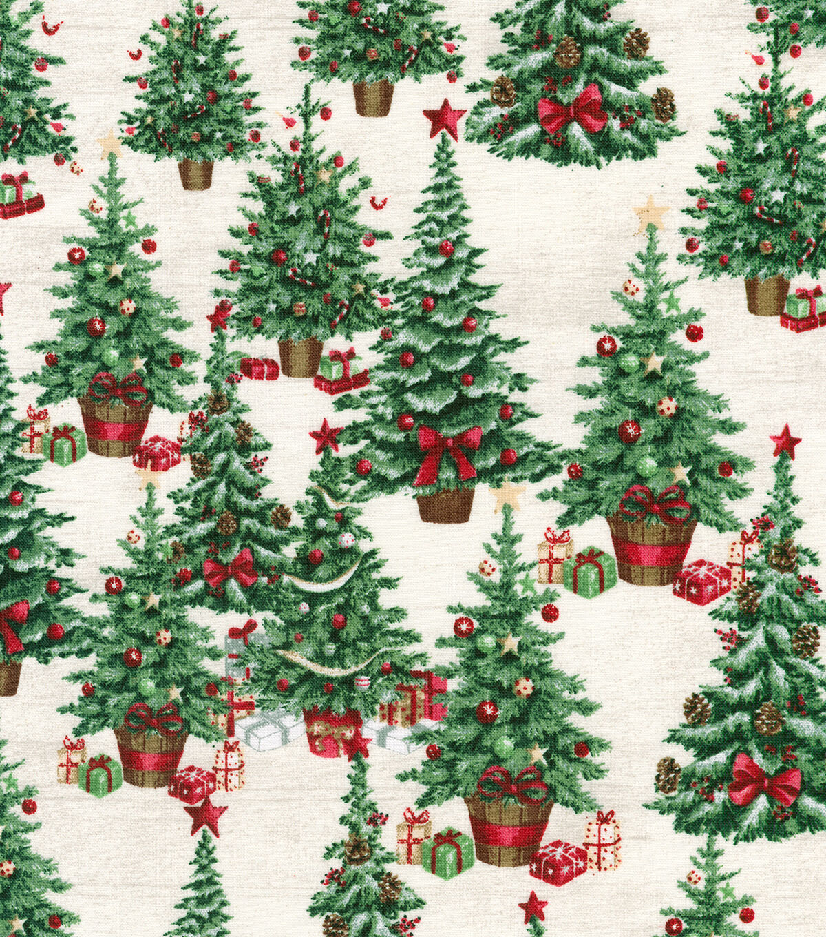 Christmas Festive Sparkling Swirling Twisting Holly Vines 100/% Cotton Fabric