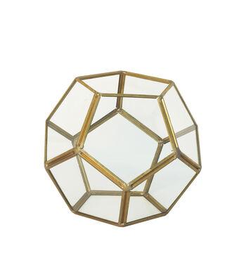 Bloom Room Metal & Glass Terrarium Container-Gold