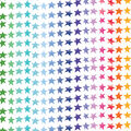 Celebration Cotton Fabric-Rainbow Star Stripe
