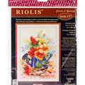 RIOLIS 8.25\u0027\u0027x11.75 Stamped Cross Stitch Kit-Garden Watering Can