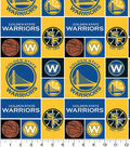 Golden State Warriors Cotton Fabric 44\u0027\u0027-Logo Block