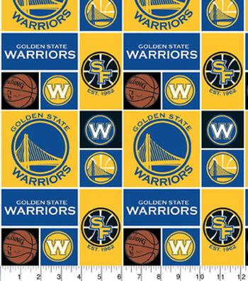 Golden State Warriors Cotton Fabric 44''-Logo Block