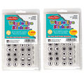 Wiggle Eyes Stickers Black 1000 Per Pack-2 Packs