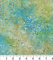 "Legacy Studio Batik Cotton Fabric 44""-Curly Vine Blue Green, , hi-res"