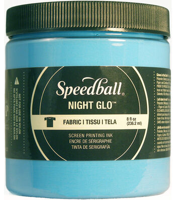 Night Glo Fabric Screen Printing Ink 8oz-Blue