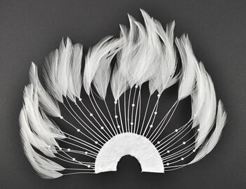 "Hackle Feather Pad 7 x 4.5"" (17.8 x 11.4 cm) White, 1 piece"