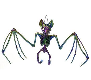 Maker's Halloween Large Spooky Skeleton Bat with Wingspan-Oil Slick