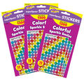 Colorful Sparkle Smiles superSpots Stickers Value Pack 3pk