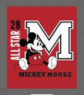 Disney Mickey Mouse No Sew Fleece Throw Fabric-All Star 28