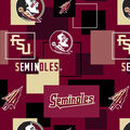 Florida State University Seminoles Cotton Fabric -New Block