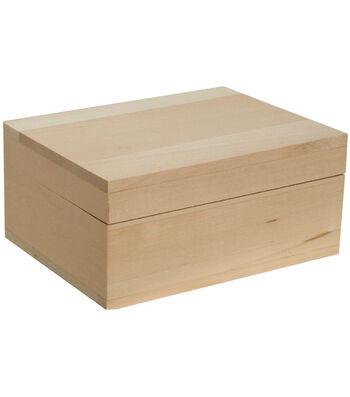 """Walnut Hollow Basswood Classic Hinged Lid Box-3""""X6.5""""X5"""""""