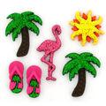 Jesse James Dress It Up Beach Button Embellishments-Summer Bliss