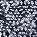 Stretch Chiffon Fabric 57\u0027\u0027-Black & White Triangles