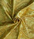 Casa Embellish Brocade Fabric 44\u0027\u0027-Gold Large Scroll