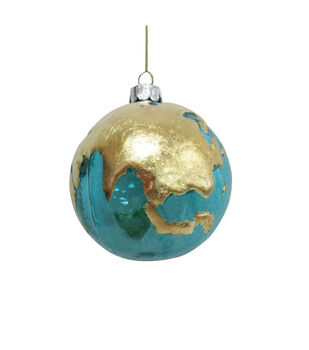 Handmade Holiday Christmas Glass Globe Ornament
