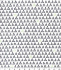 Nursery Flannel Fabric-Boone Tiny Triangles Geo