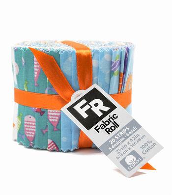 "Quilt Fabric Roll 3.5""-Mermaid"