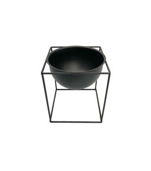 In the Garden Metal Table Plant Stand-Black