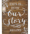 Save the Date Our Story Wood Easel