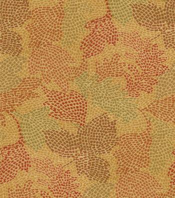 "Waverly Upholstery Fabric 54""-Mosaic Leaves Tuscan"