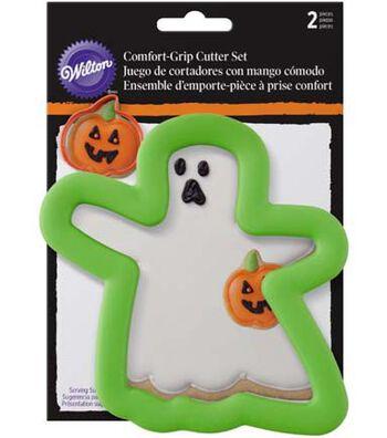 Wilton Halloween 2 pk Comfort Grip Cookie Cutters-Ghost & Pumpkin