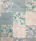 Warm Weather Apparel Fabric-Patchwork Eyelet Teal Cotton
