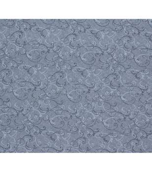 Keepsake Calico Cotton Fabric-Gray Scroll Texture