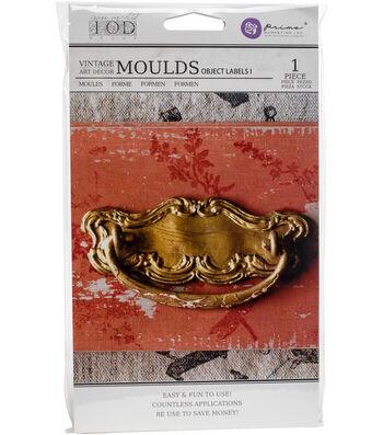 """Iron Orchid Designs Vintage Art Decor Mould 5""""X8""""-Object Labels #1"""