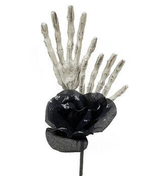 Maker's Halloween Rose Pick with Skeleton Hands