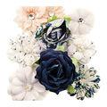 Prima Marketing Georgia Blues 9 pk Fabric Flowers-Mitchell