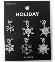 hildie & jo Holiday Charms-Silver Snowflake, , hi-res