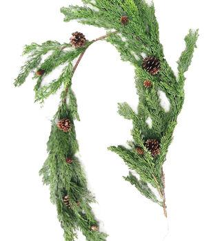 Handmade Holiday Christmas Cypress & Pinecone Garland