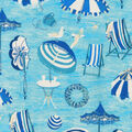 PKL Studio Outdoor Fabric 9\u0022x9\u0022 Swatch-Beach Daze Ocean
