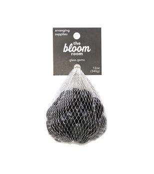 Bloom Room 12 oz. Glass Gems-Black Luster