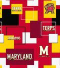 University of Maryland Terrapins Cotton Fabric -Modern Block