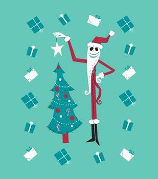 Nightmare Before Christmas No Sew Fleece Throw-Jack Star