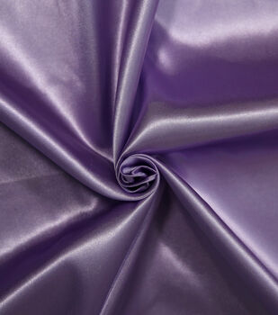Let's Pretend Satin Fabric -Lavender
