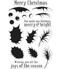 Hero Arts 18 pk Color Layering Clear Stamps-Holly