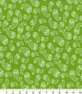 Quilter\u0027s Showcase Cotton Fabric -Floral Paisley Green